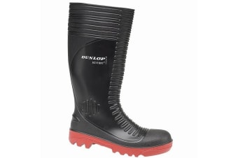 Dunlop Acifort A252931 Ribbed Full Safety Wellington / Mens Boots (Black)