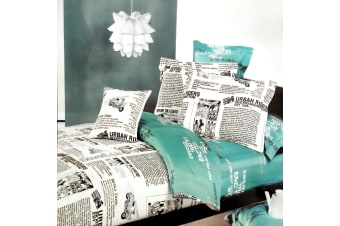 Cotton Urban Reversible Quilt Cover Set King by Phase 2