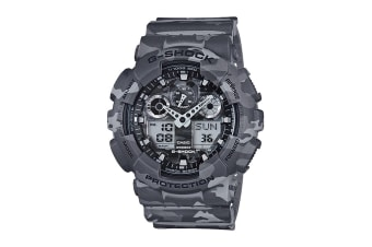 Casio G-Shock Ana-Digital Watch - Grey Camouflage (GA100CM-8A)