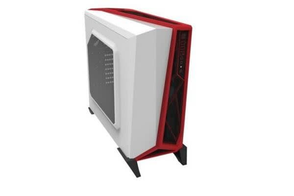 Corsair SPEC Alpha White & RED Mid tower Case- ATX - no power supply  - USB/Audio (LS)