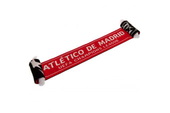 Atletico Madrid FC Official Champions League Scarf (Red/Black)