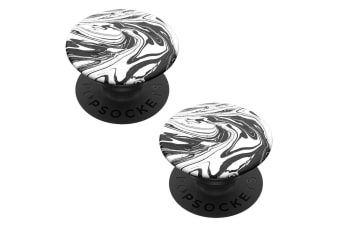 2PK Pop Sockets Grip Universal Swappable Holder Mod Marble w/ Base for Phones
