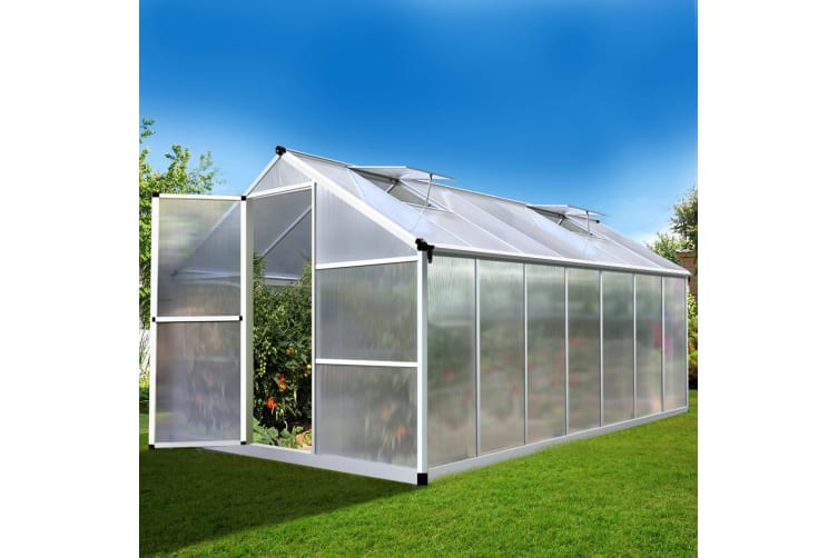 4.22x2.5M Aluminium Greenhouse Polycarbonate Greenhouses Green House