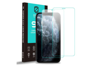 """ZUSLAB iPhone 11 / iPhone XR 6.1"""" Tempered Glass Screen Protector Case Friendly 9H Hardness Transparent Clear for Apple (2 Packs)"""