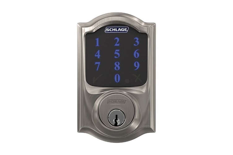 Schlage Connect Touchscreen Smartlock with Camelot Trim (Satin Nickel)