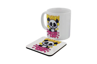 Handa Panda Choose Kind Mug & Coaster Set (White)