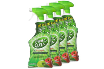 4x Pine O Cleen Crisp Apple 750mL/Multi Purpose House/Kitchen Cleaning Spray