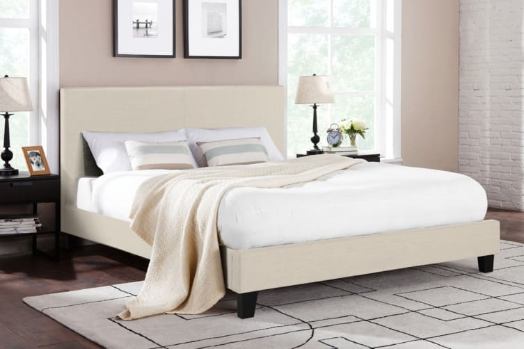 Shangri-La Bed Frame - Ravello Collection (Beige Royal, Queen)