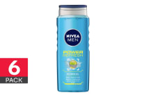 6-Pack Nivea Men Power Refresh Shower Gel - 500ml