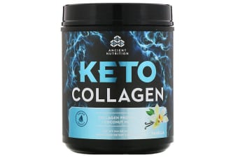 Dr. Axe / Ancient Nutrition Keto Collagen Collagen Protein + Coconut MCTs - Vanilla 415g