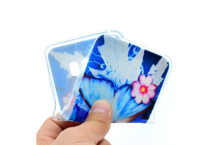 For Samsung Galaxy S8 Case Butterfly Flowers Transparent Protective Cover
