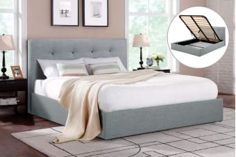 Shangri-La Bed Frame - Portofino Gas Lift Collection (Grey)