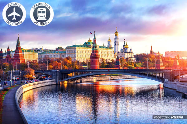 TRANS-SIBERIA: 17 Day Ultimate Trans-Siberian Rail Journey Including Flights for Two