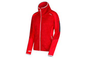 Regatta Womens/Ladies Laney V Knit Effect Fleece (Red Alert/Red Alert) (12 UK)