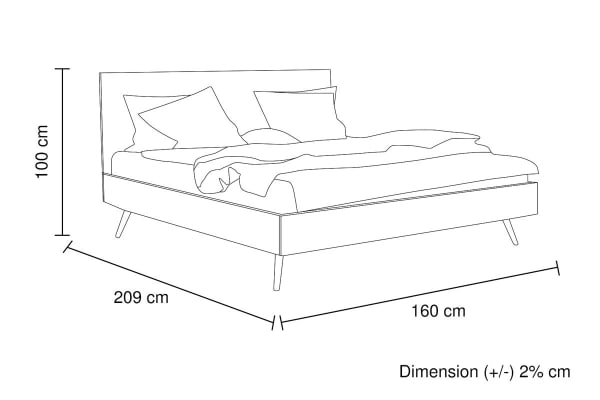 Altona Bed Frame in Natural Wood (Queen)