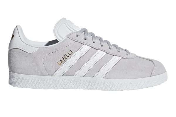 Adidas Originals Women's Gazelle Shoe (GreyWhite, Size 5.5 UK)