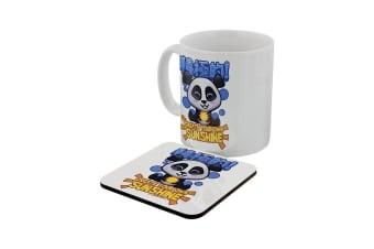 Handa Panda Create Your Own Sunshine Mug & Coaster Set (White)