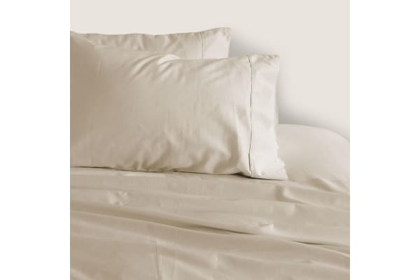 Canningvale Caressa Queen Sheet Set Crema Ivory