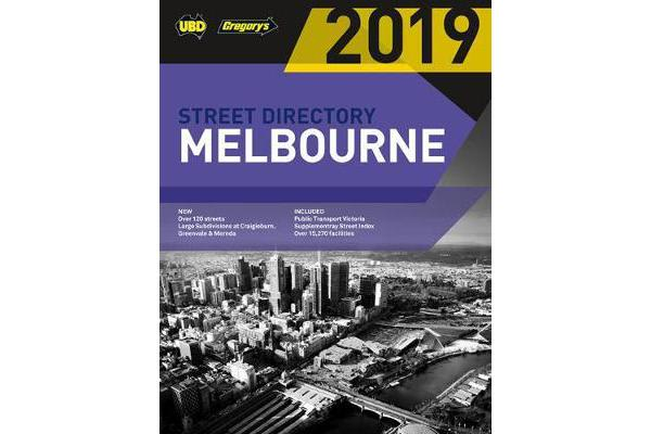 Melbourne Street Directory 2019 53rd ed - includes Geelong