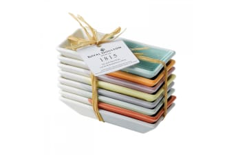 Royal Doulton 1815 Tapas Rectangle Trays 23.5cm Set of 8