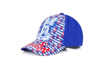 Minnie Mouse Childrens/Girls Stripe Baseball Cap (Blue)