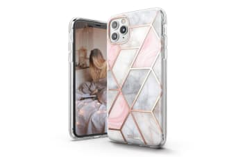 TITSHARK Marble Pattern Shockproof Tough High-quality stylish Case Cover For iPhone 11 Pro-Pink