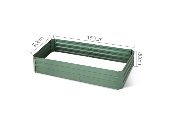 Galvanised Raised Garden Bed Aluminium (Green)