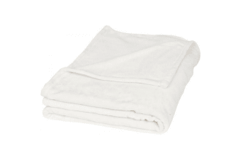 Field & Co Mollis Ultra Plush Plaid Blanket (Cream)