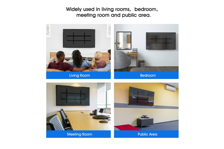 Low Profile TV Wall Mount Bracket for VESA 800x400mm 42-80 Inch LED, LCD, Flat Screen Television