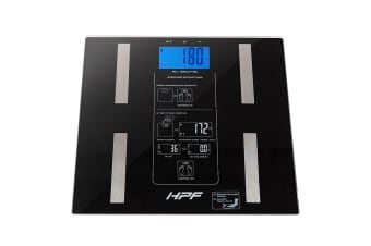 HPF Black 180kg Digital Bathroom Scales