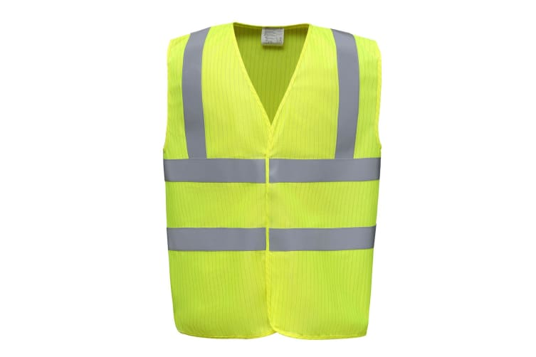 Yoko Mens Hi-vis Flame-retardant Anti-static Waistcoat (Yellow) (XXL)