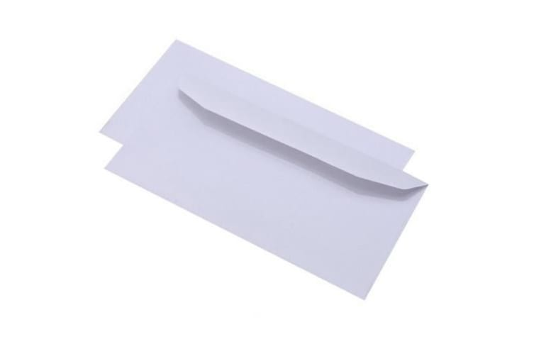 Supreme Self Seal White Envelopes (Pack of 50) (White) (89x152mm (Pointed flap))