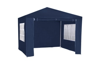 3m x 3m Wallaroo Outdoor Party Wedding Event Gazebo Tent - Blue
