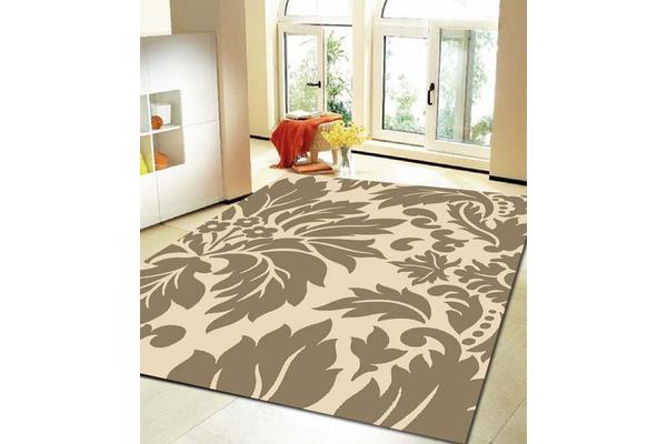 Stunning Beige and Cream Pattern Rug 330x240cm