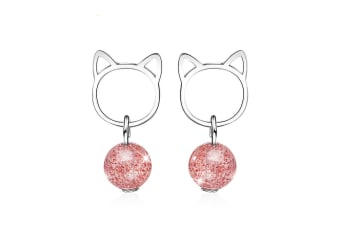 Kitty Candy Drop earrings-White Gold
