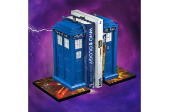 Set of 2 Doctor Who TARDIS Bookends | Official BBC Collectable Design