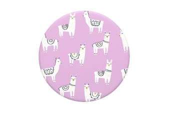 PopSockets Lotsa Llama Swappable Top for Pop Socket Base Grip/Stand PopGrip Pink