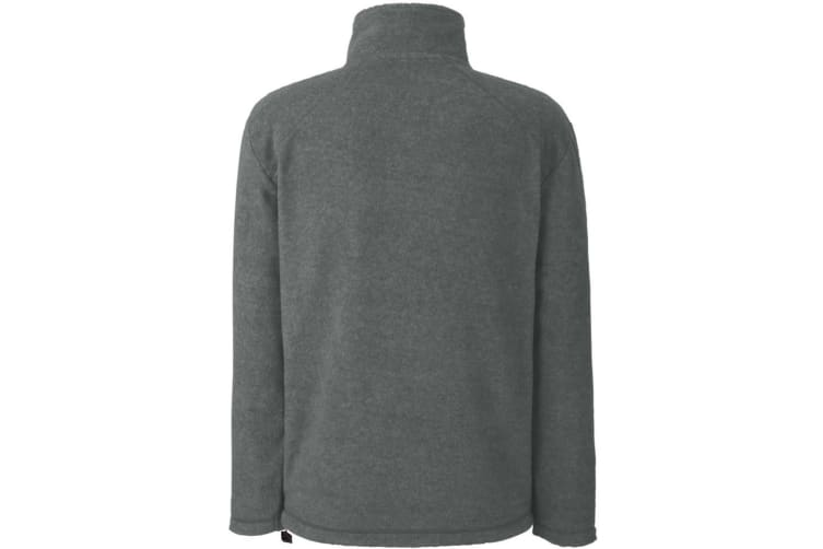 Fruit Of The Loom Mens Full Zip Outdoor Fleece / Top (Smoke) (2XL)