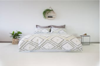 Ardor Boudoir Poncho Embossed Quilt Cover Set