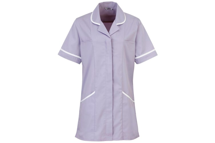 Premier Ladies/Womens Vitality Medical/Healthcare Work Tunic (Pack of 2) (Lilac/ White) (16)