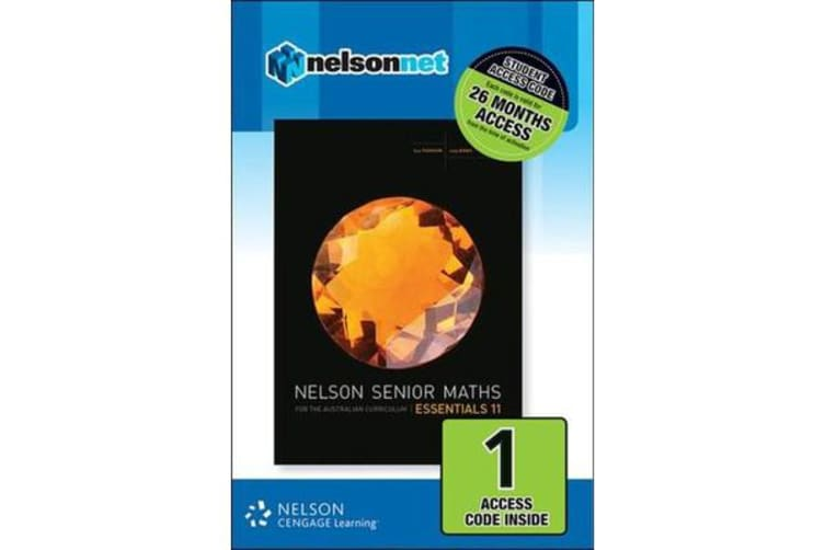 Nelson Senior Maths Essentials 11 for the Australian Curriculum 1 Code  Access Card