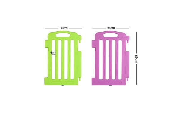 Plastic Baby Playpen Set of 2 Safety Divider Gate Fence–Extension Panel