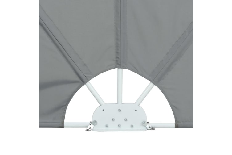 vidaXL Collapsible Terrace Side Awning Grey 240x160 cm