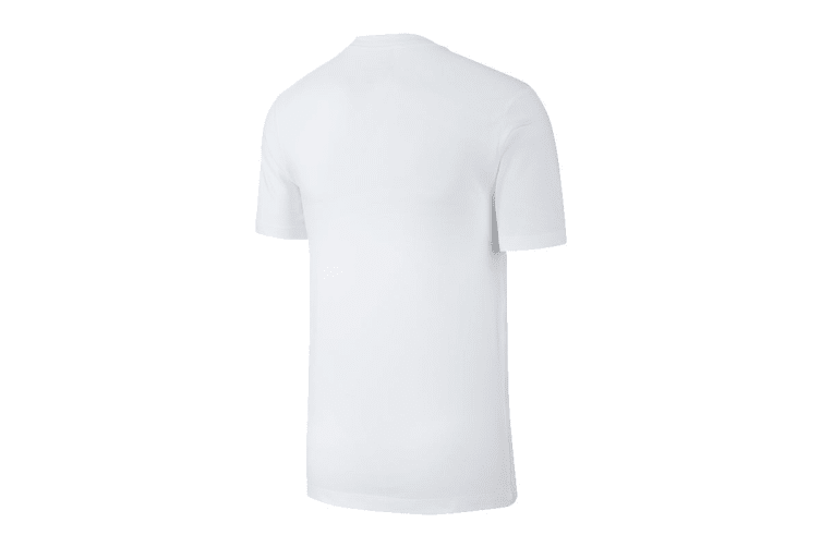 Nike Men's Just Do It Swoosh Tees (White/Black, Size XL)