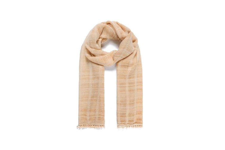 Intrigue Womens/Ladies Check Dyed Narrow Scarf (Yellow) (One Size)