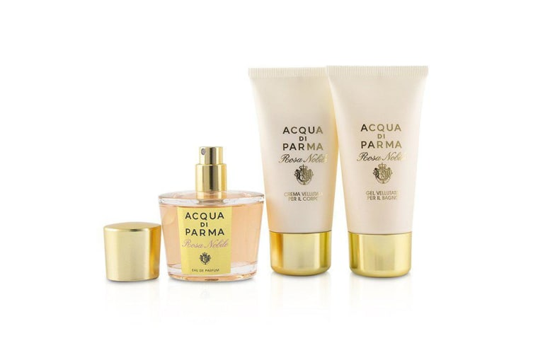 Acqua Di Parma Rosa Nobile Coffret: Eau De Parfum Spray 50ml/1.7oz + Velvety Bath Gel 50ml/1.7oz + Velvety Body Cream 50ml/1.7oz 3pcs