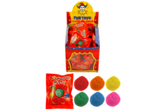 Henbrandt Bouncing Putty - Assorted Colours (Red/Green/Orange/Blue/Yellow/Pink)