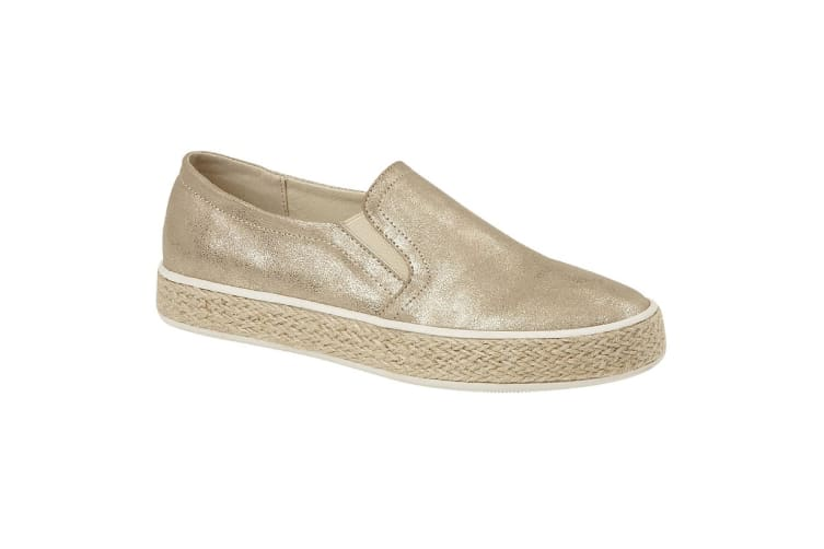 Cipriata Womens/Ladies Antonia Shoes (Gold Shimmer) (5 UK)