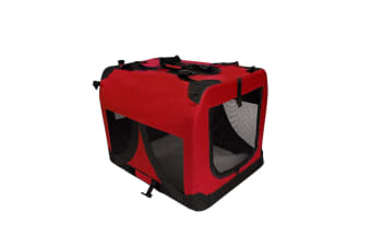 i.Pet Extra Large Portable Soft Pet Carrier- Red