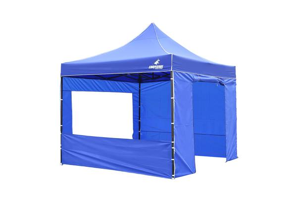 3x3m Gazebo Frame + Roof + Side Cover - BLUE